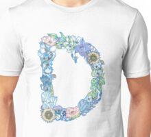 Floral Letter D  Unisex T-Shirt
