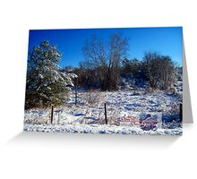quiet snowy morning Greeting Card