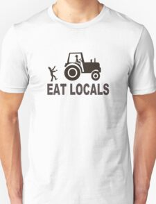 Eat Locals Zombies funny nerd geek geeky T-Shirt
