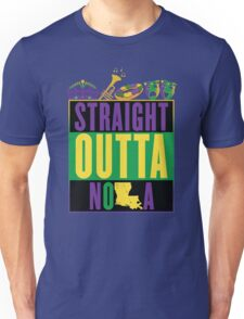Straight Outta NOLA (Mardi Gras Version) Unisex T-Shirt