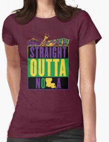 Straight Outta NOLA (Mardi Gras Version) Womens Fitted T-Shirt