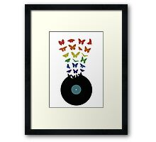 Music Butterflies  Framed Print