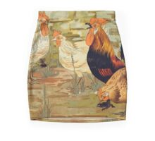 """Coq et Poules"" (Chickens) by Maurice Pillard Verneuil  Mini Skirt"