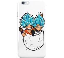 Goku and Vegeta god pocket. iPhone Case/Skin