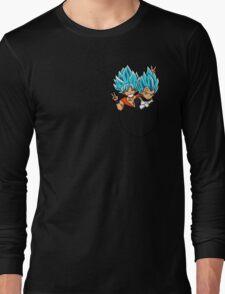 Goku and Vegeta god pocket. Long Sleeve T-Shirt