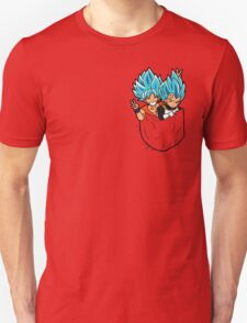Goku and Vegeta god pocket. T-Shirt
