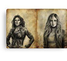 Griffin Girls Canvas Print