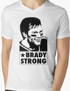"Tom Brady is ""BRADY STRONG""  Mens V-Neck T-Shirt"