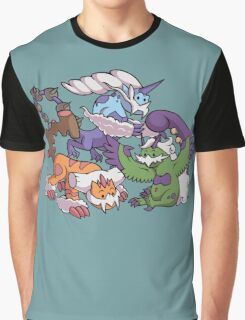 Cute Genie Pokemon Graphic T-Shirt