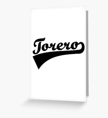 Torero Greeting Card