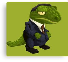 Funny Lizard in a Business Suit Canvas Print
