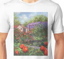 Garden with Tulips and Wisteria T-Shirt