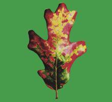 Colorful Autumn Oak Leaf Kids Tee