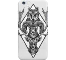 Wolfram Hart (B&W) iPhone Case/Skin