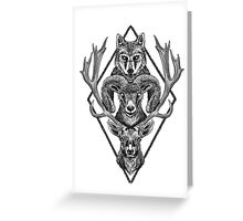 Wolfram Hart (B&W) Greeting Card