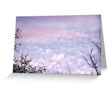 Pastel Autumn Evening Clouds Greeting Card