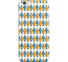 Blue/Orange Arrow Pattern iPhone Case/Skin