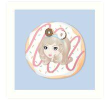 Debbie Doughnut Art Print