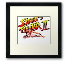 Ryu Flying Kick Framed Print