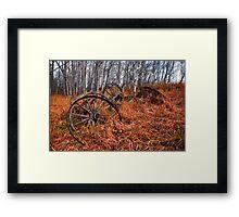 wagon wheels Framed Print