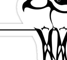 Love birds on a wire Sticker