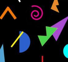80s Geometric Retro Pattern Sticker