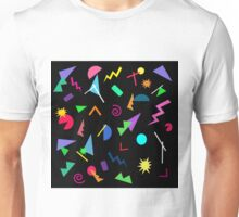 80s Geometric Retro Pattern Unisex T-Shirt