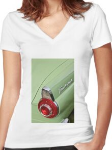 1956 Ford Thunderbird Taillight Women's Fitted V-Neck T-Shirt