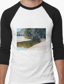 """Tidal Creek, Dunk Island"" Men's Baseball ¾ T-Shirt"