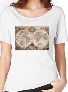 Old World map Women's Relaxed Fit T-Shirt
