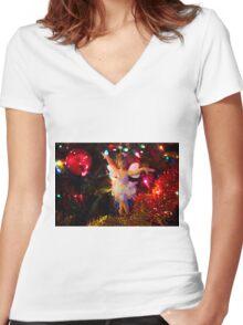 Christmas Fairy II Women's Fitted V-Neck T-Shirt