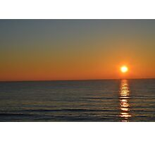 Sunset on Lake Michigan Photographic Print