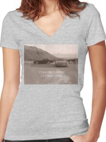 C4 Corvette Women's Fitted V-Neck T-Shirt