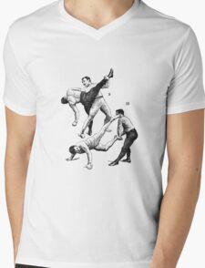 Vintage MMA | French Boxing Mens V-Neck T-Shirt