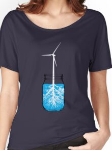 Natural energy wind turbine plant Women's Relaxed Fit T-Shirt