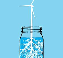 Natural energy wind turbine plant by monsterplanet