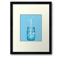 Natural energy wind turbine plant Framed Print