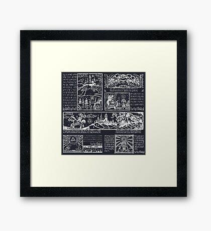 Hero of Time Chalkboard Framed Print