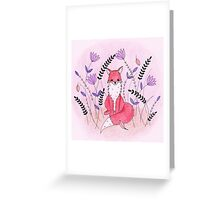 Beautiful Fox in the Garden Greeting Card