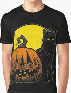 Still Life with Feline & Gourd Graphic T-Shirt