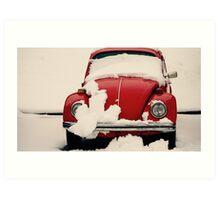 Winter Reds Art Print