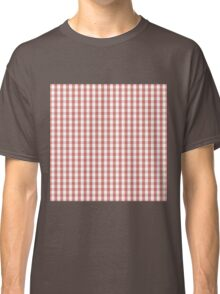 Camelia Pink Mini Gingham Check Classic T-Shirt