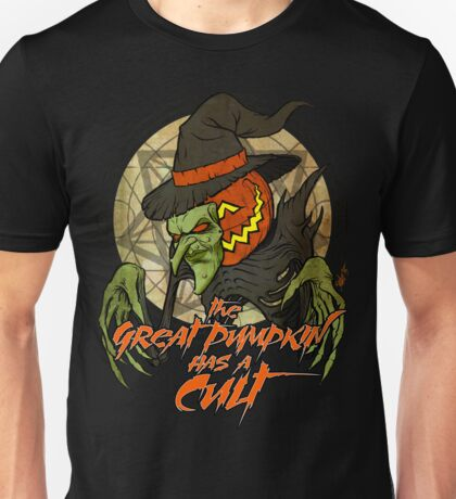 Cult of the Great Pumpkin: Witch Mask Unisex T-Shirt