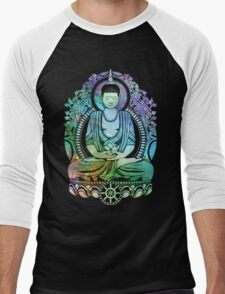 Gautama Buddha Cool Galaxy Men's Baseball ¾ T-Shirt