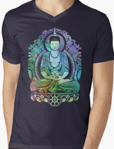 Gautama Buddha Cool Galaxy Mens V-Neck T-Shirt