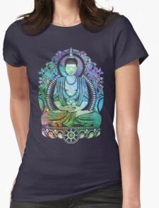 Gautama Buddha Cool Galaxy Womens Fitted T-Shirt