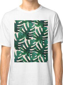 Monstera Pattern #Redbubble #decor #lifestyle Classic T-Shirt