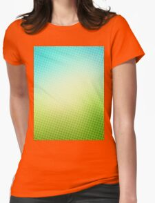abstract halftone design Womens Fitted T-Shirt