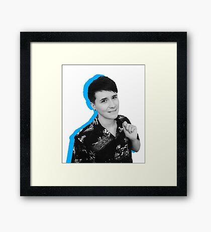 dan blue  Framed Print