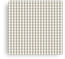 Pussy Willow Mini Gingham Check Plaid Canvas Print